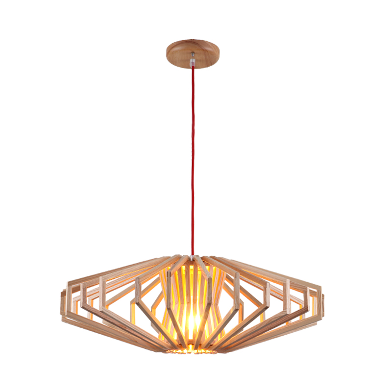 Moderne art houten hanglamp japanse stijl led opknoping for Lampen japan