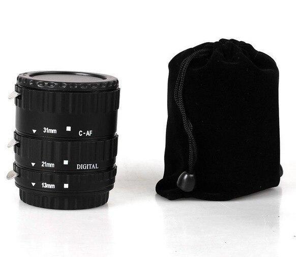 Black Aluminum Alloy Electronic AF TTL Auto Focus Macro Extension Ring Tube For Canon EOS 50D 600D 70D 1D4 1000D EF EF-S Len