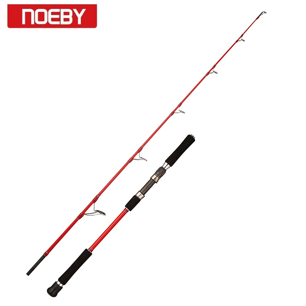 Noeby leisure k5 jigging fishing rod 2 sections high carbon M MH power 1.83m lure weight 323g 335g rock spinning fishing rod