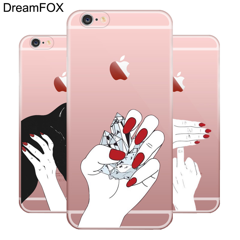 L057 Hand Soft TPU Silicone Case Cover For Apple iPhone X 8 7 6 6S Plus 5 5S SE 5C 4 4S