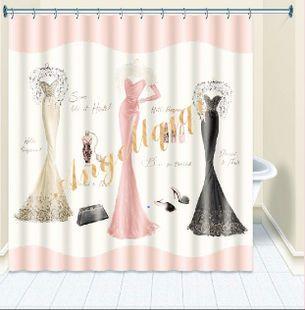 Designer Duschvorhänge mode abendkleid designer duschvorhang 183x183 cm bad vorhang mit