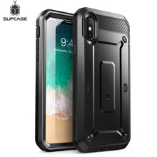 SUPCASE For iPhone X XS Case UB Pro Series Full Body Rugged Holster Clip Case with Built in Screen Protector For iphone X Xs