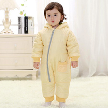 Newborn Baby Boy Clothes Winter Jumpsuits Baby Girl Rompers Long Sleeves Jacket Snow Wear Infant Snowsuits for Kids Clothes 2016