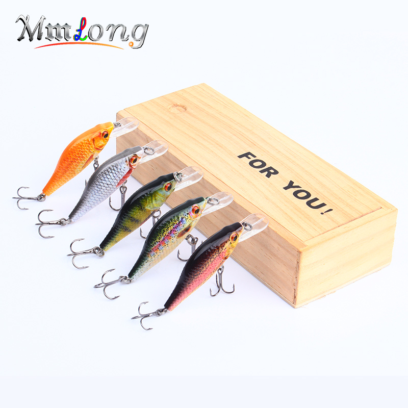 Mmlong 5pcs 2.5 Realistic Fishing Lure Lifelike Artificial Crankbait 4.1g Hard Fish Bait Wobbler Tackle 5 Color Options HML11A mmlong 12cm realistic minnow fishing lure popular fishing bait 14 6g lifelike crankbait hard fish wobbler tackle pesca ah09c