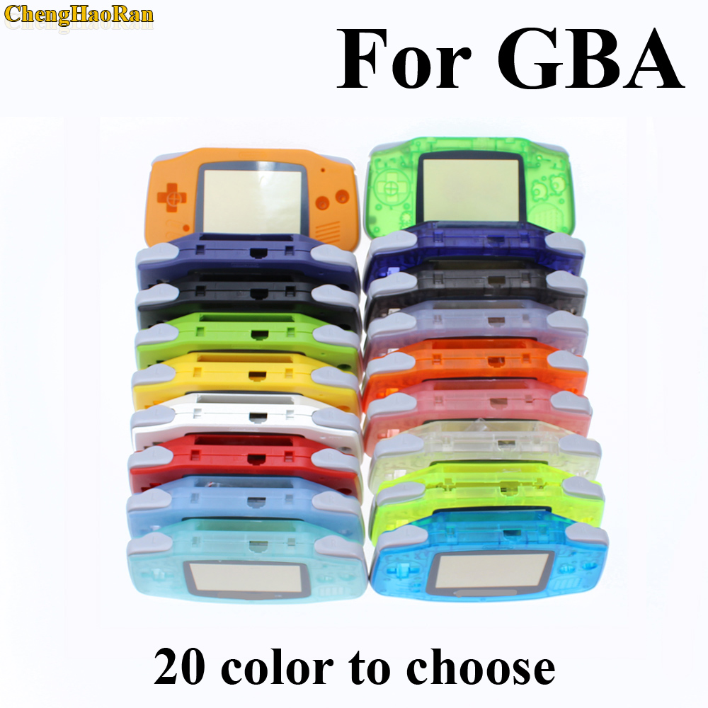 10 sets Luminous Solid Colorfull Replacement Housing Shell Case Cover for Nintendo Gameboy Advance for GBA