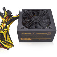 6 GPU Miner Case 1800W Ethereum Miner Power Supply For Bitcoin Miners Support 6 Graphics Card