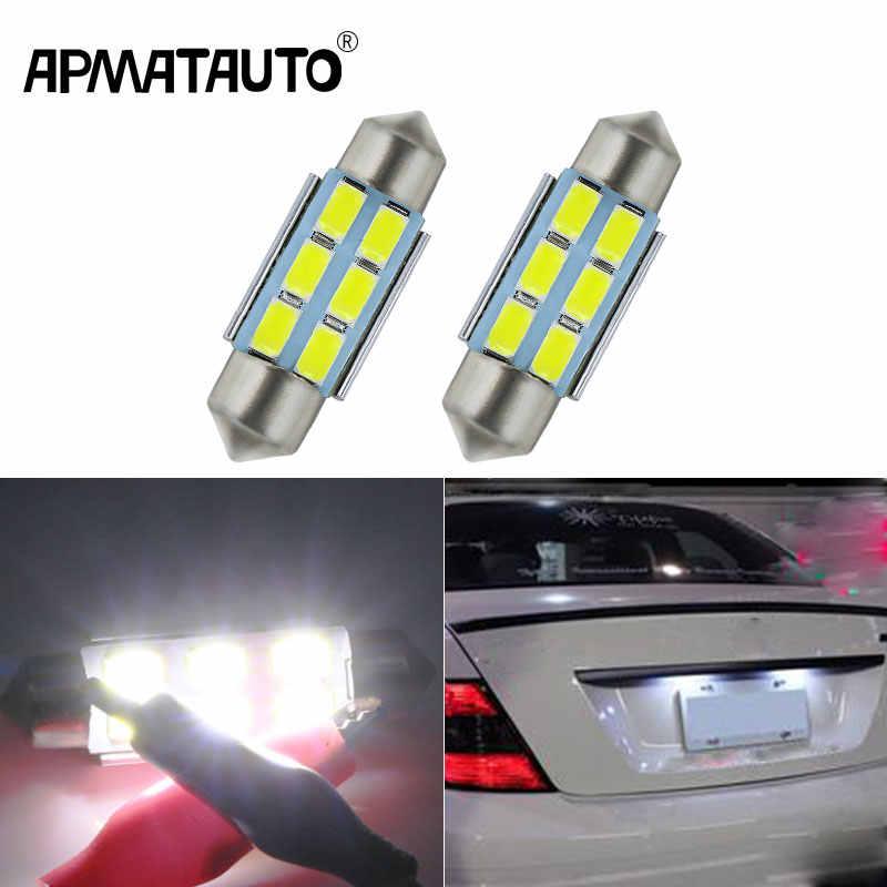 Apmatauto 2x c5w 36mm festoon 자동차 인테리어 전구 번호판 빛 메르세데스 벤츠 w208 w209 w203 w169 w210 w211 w212