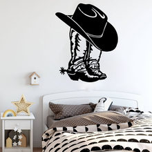 Cowboy Cowgirl Boot & Hoed Westerse Schoen Auto Laptop Muursticker Decal Cowboy Cowgirl Boot Vinyl Decor(China)