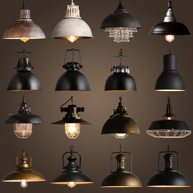 Us 90 0 40 Off Vintage Rustic Metal Iron Lid Cap Lampshade For E27 Led Edison Pendant Lamp Retro Re Hanging Lampe Fixture In