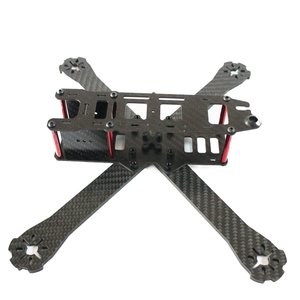FPV QAV-R 220 220mm Pure Carbon Fiber Cross Racing Quadcopter Frame for QAV-R190 220 260 carbon fiber frame diy rc plane mini drone fpv 220mm quadcopter for qav r 220 f3 6dof flight controller rs2205 2300kv motor