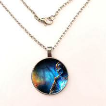 GDRGYB 2019 New Arrival Mortal Kombat Pendant necklace Handmade Glass Dome Scorpion Sub Zero Jewelry Steampunk Pendant necklace(China)