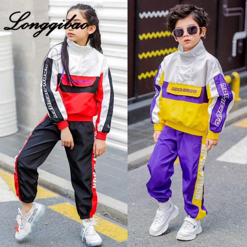 rua roupas desempenho de danca roupas de primavera e outono das criancas mare versao coreana do