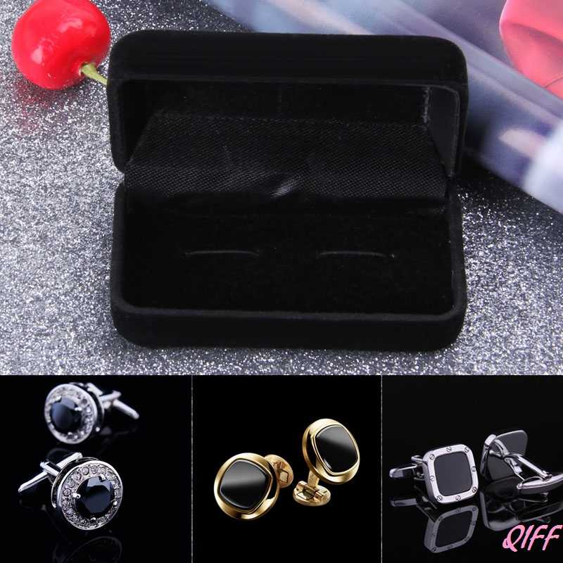 Cufflink Storage Box Organizer Case Cuff Link Display Holder For Jewelry Wedding