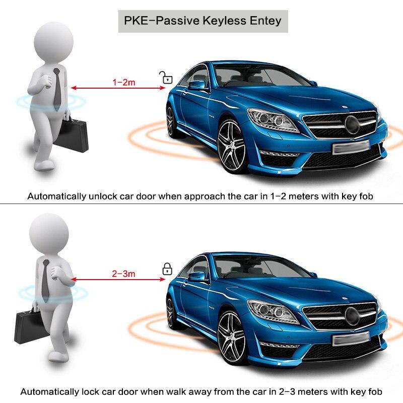 9 pièces Auto voiture SUV sans clé entrée moteur démarrage système d'alarme bouton poussoir démarreur à distance bouton d'arrêt - 3