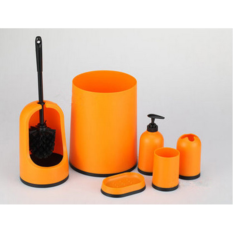 Orange bathroom accessories set all the best accessories for Orange bathroom accessories set