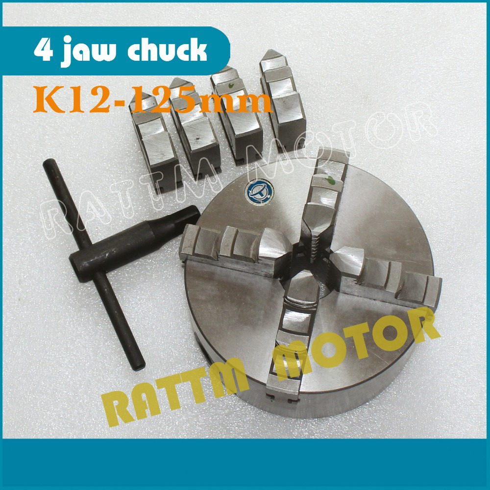 Four 4 jaw self-centering chuck K12-125mm 4 jaw chuck Machine tool Lathe chuck 4 jaw self centering chuck k12 130 machine tool lathe chuck