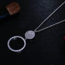 Цирконий Кристальный серебряный со стразами Цвет круглой цепочкой