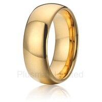 Klasyczne 8mm tungsten ring mężczyźni wedding band złoty jonowy kolor biżuteria najlepszy usa projektowania biżuterii darmowa wysyłka