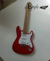 Орла. Бабочка, электрогитара, бас custom shop, 21 Металл красный ST metal rock электрогитара на заказ.