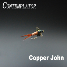 CONTEMPLATOR 5pcs #12 Copper John sinking classic wet fly mouche pattern simulating stonefly or mayfly nymphs Fly fishing lures