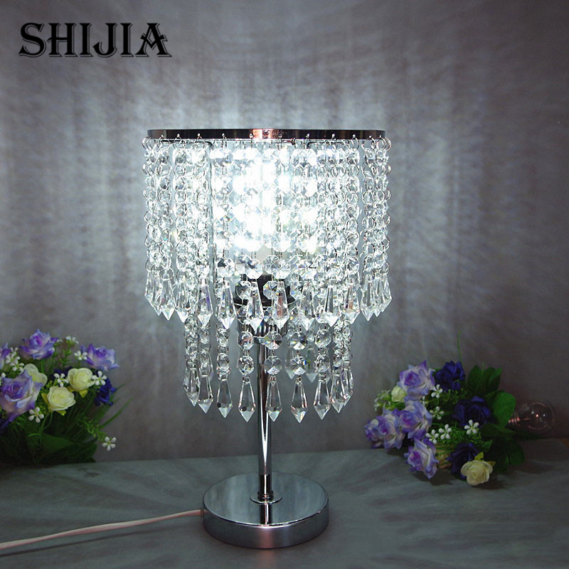 Modern LED Crystal Desk Lamps for Study Bar Cafe Garment Shop Living room Restaurant Bedroom