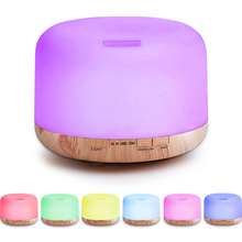 500ML Aroma Diffuser Ultrasonic Air Humidifier with LED Night Light for Home Room Electric Essential Oil Aromatherapy Diffuser diffuserlove 500ml humidifier aromatherapy essential oil diffuser aroma diffuser humidificador with 7 color led night light
