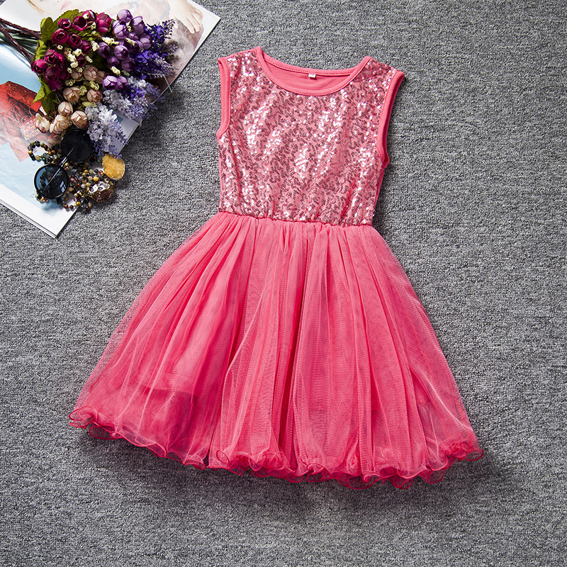 0948a8c2e8 Weonedream niñas vestido 2017 verano niñas velo velo vestido de princesa  glitter tutu vestido de los bebés de rayas vestido en Vestidos de Mamá y bebé  en ...