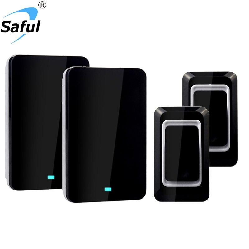 Free shipping Touch Sensor Waterproof Door bell EU Plug-in Digital 28 Door Ring Wireless Doorbell Remote Control Home Door Bell