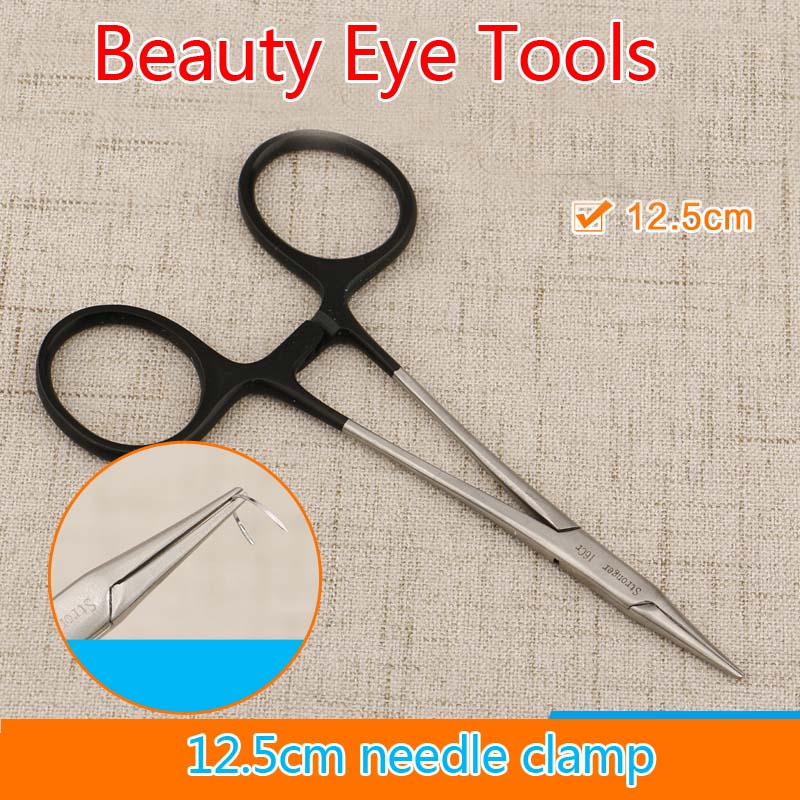 Shi Qiang Black Handle Needle Pliers Ophthalmic Instruments Stainless Steel Tools Fine Pincher 12.5cm Needle Holder Щипцы