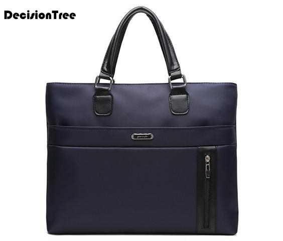 New Design Briefcases For Men Business Fashion Oxford Messenger Handbags Male Simple Style Practical 14' Solid Laptop Bags L411