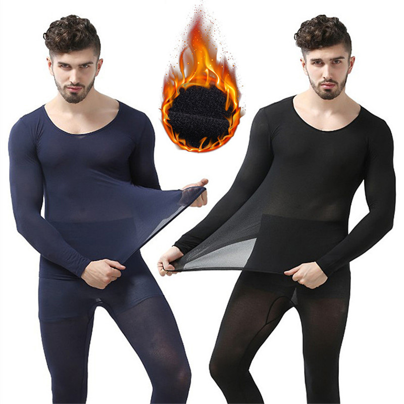 Thermal-Underwear Winter 37-Degree Constant Men for Ultrathin Elastic Seamless Long-Johns