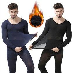 Inverno 37 graus de temperatura constante roupa interior térmica para homem ultrafino elástico thermo underwear sem emenda longo johns