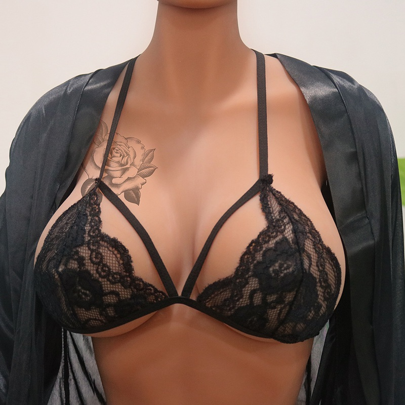 Sexy Women Sexy Hollow Lace Bra Erotic Translucent Lingerie Underwear Sheer Lace Frenum Strap Bra top Sexy Lingerie Newest lingerie top