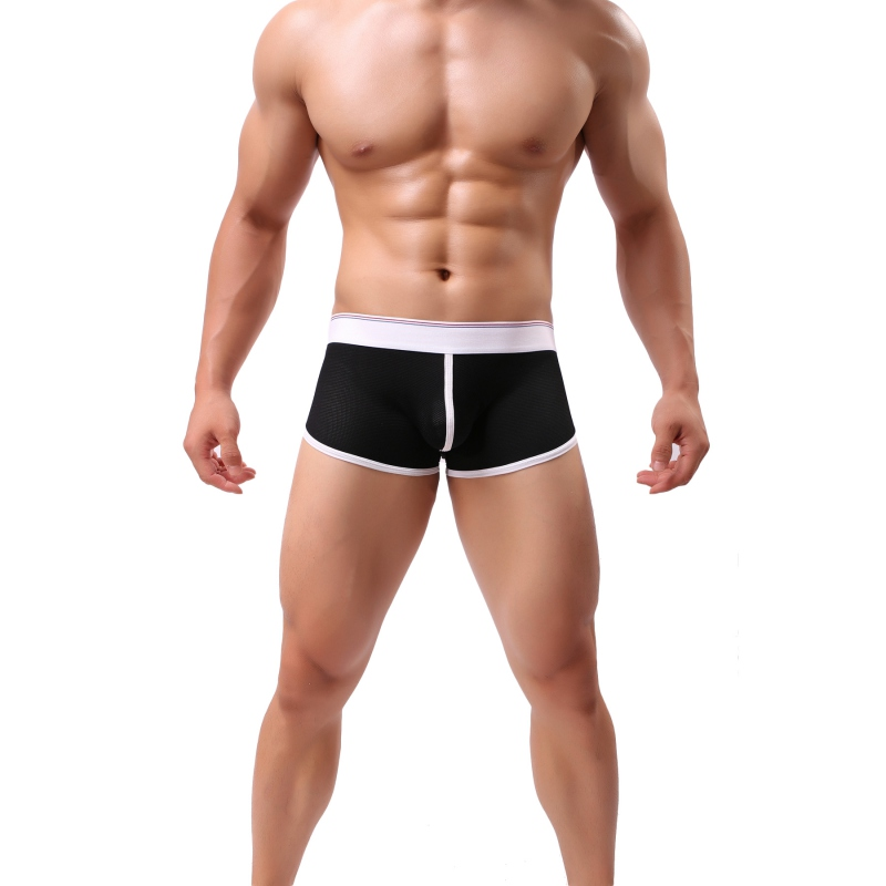 Male Underwear Boxers Pure Colors Underpants Men Boxers Pure Colors Soft Underwear Boxer Men 5 Colors