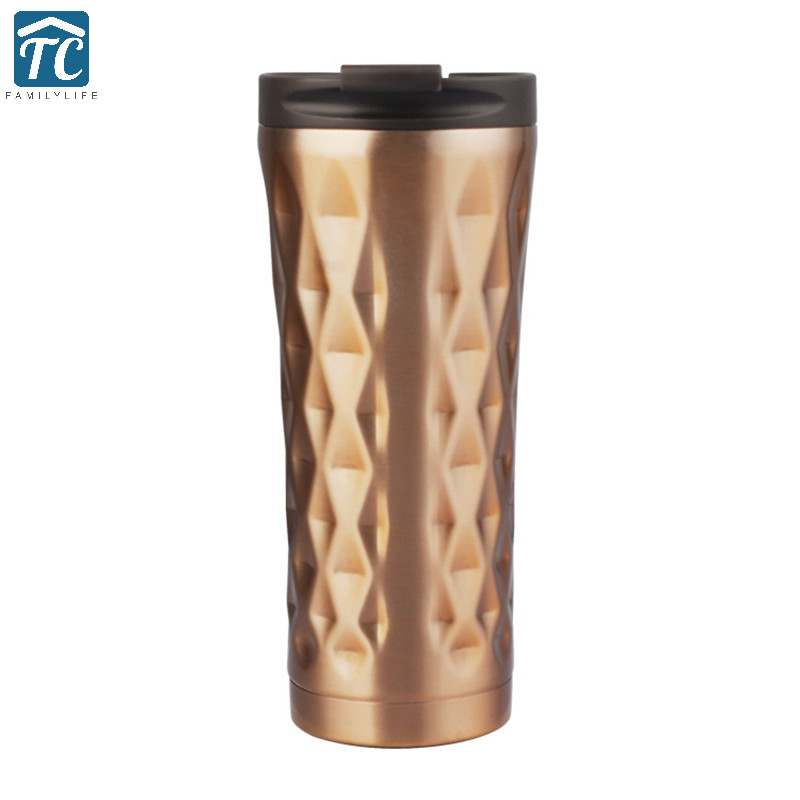 500ml Water Bottles Stainless Steel Car Thermos Vacuum Flask Insulated Thermocup Coffee Cup Thermoses Drinkware Leakproof Caming ...