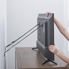 Хорошее качество детский замок безопасности 2 шт./лот Детская безопасность анти-наконечник ремни для плоского телевизора и мебели настенный ремень защита от детей замок