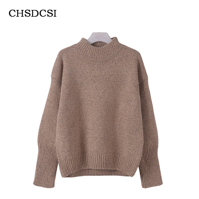 Women Sweater Thicken Coarse Wool Knitted Tops Fashion Casual Knitted Pullovers Sweaters Loose Feminino Retro Outwear Coat S256