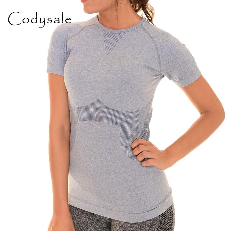 Codysale T-shirts Mode Femmes Casual T-shirt Loisirs Exercice Fitness t-shirt À Séchage Rapide à manches Courtes Sweat Femmes Tops