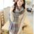 Nuevo estilo coreano de otoño / invierno Pashmina de la bufanda gruesa mujeres Echarpe lana a cuadros chales y bufandas Poncho botón de la bufanda del diseñador