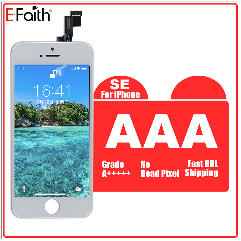 E Faith 5PCS lot AAA LCD For iPhone SE Screen Display for iPhone SE 5SE with