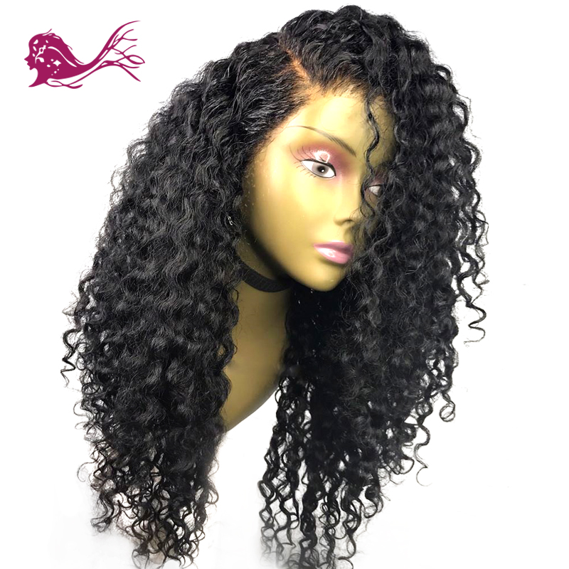 EAYON HAIR Glueless Lace Front Human Wigs Deep Curly Wave Wigs For Women With Baby Hair