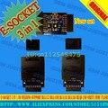 E-SOCKET 3 em 1.No soldagem Suporte BGA153 BGA169E BGA162 BGA186 ler e escrever Flash eMMC trabalhar com caixa jtag