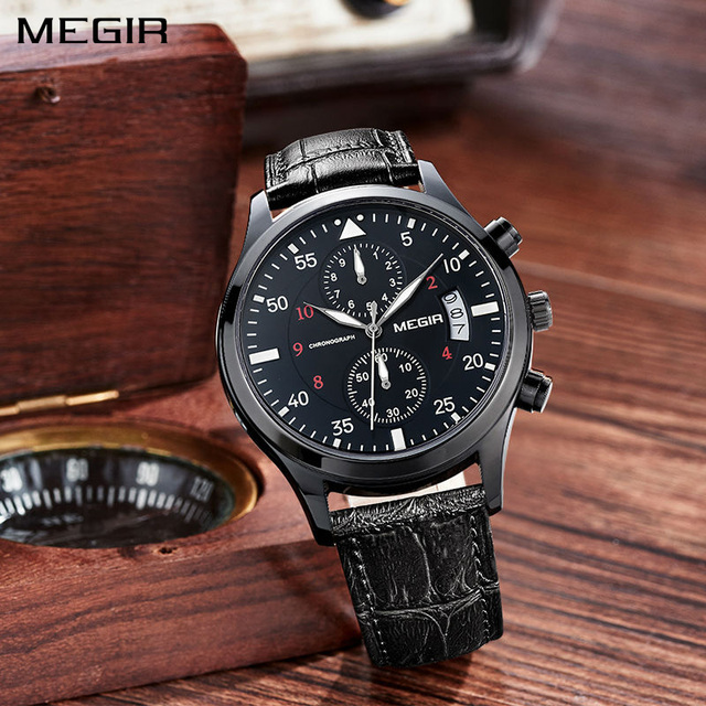 Mens Luxury Leather Watch