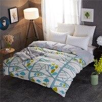 熱い販売1ピース布団カバーファッション春葉キルトカバー柔らかい綿素材のためのホーム寝具ツインフル女王