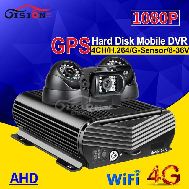 3 AHD XE Taxi HD CAMERA QUAN SÁT Camera + 4G GPS Wifi 4CH Đĩa Cứng HDD Di Động cho Ô Tô đầu ghi hình Miễn Phí Vận Chuyển Thời Gian Thực Xem Từ Xa I/O Mdvr