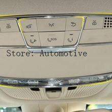 Для Mercedes-Benz E-класс W213 GLC c класса w205 C180 C260- автомобилей Интимные аксессуары ABS спереди чтение свет украсить Рамки отделкой