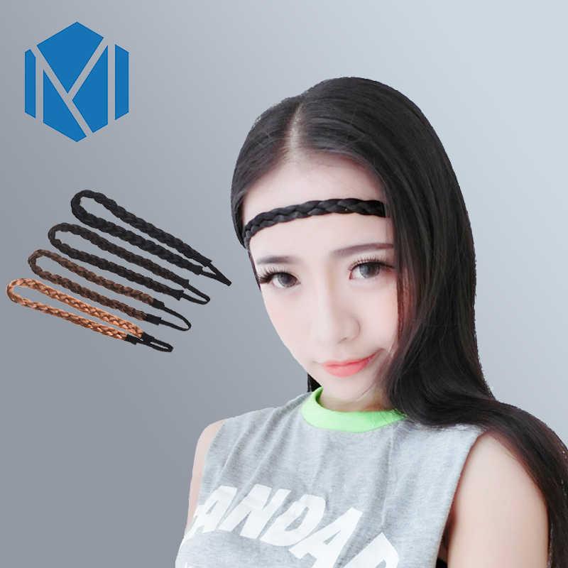 М мизм, Ширина 1,5 см, парик, тесьма, повязки для волос, модные женские аксессуары для волос, веревка, синтетический эластичный головной убор, корейский стиль, повязки для волос