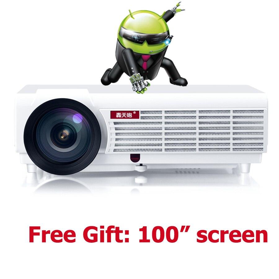 5500 lúmenes de cine en casa 1080 p inteligente Android wifi lcd tv accesorios d