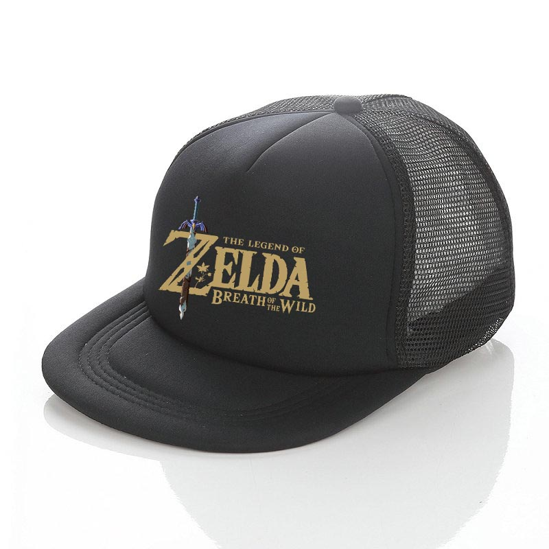 Men Women Hot Game Zelda Trucker Hat The Legend of Zelda Skyward Triforce  Snapback Cap Breath 90ff6eb5aaf