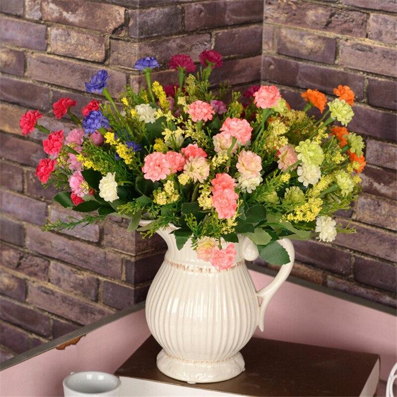 Красивый искусственный шелк цветок Мини Хризантема для свадьбы домой вечерние Ресторан украшения цветок